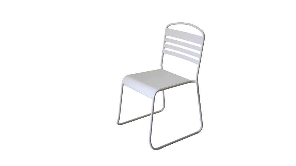 Lot de 2 chaises en métal Blanc - NILS