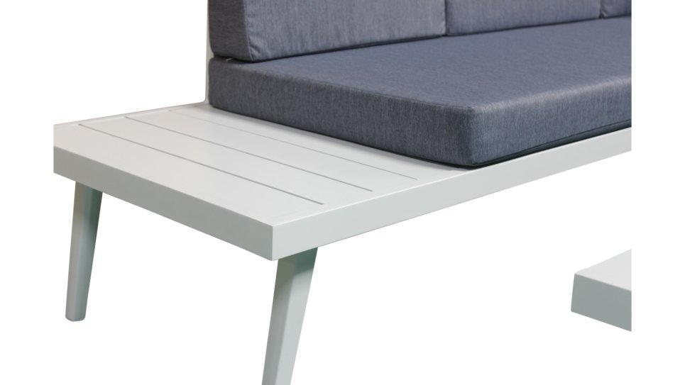 Salon de jardin 5 places Aluminium Blanc/Jean - SMART