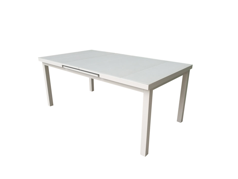 Table Extensible 180/240 x 100 cm Blanc - NICE