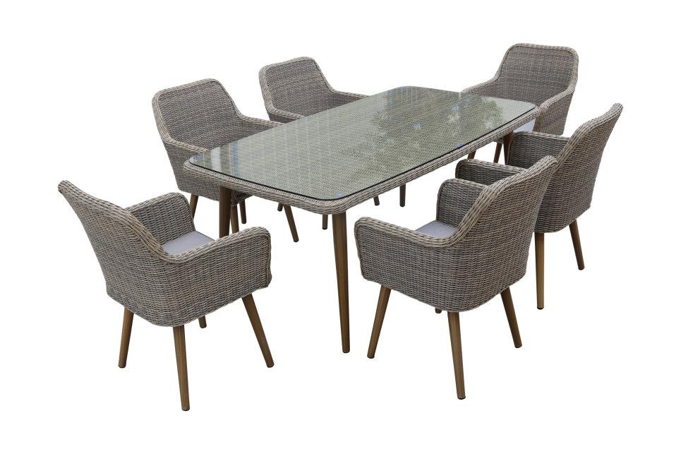 Table de jardin 180 x 100 cm - CUBA