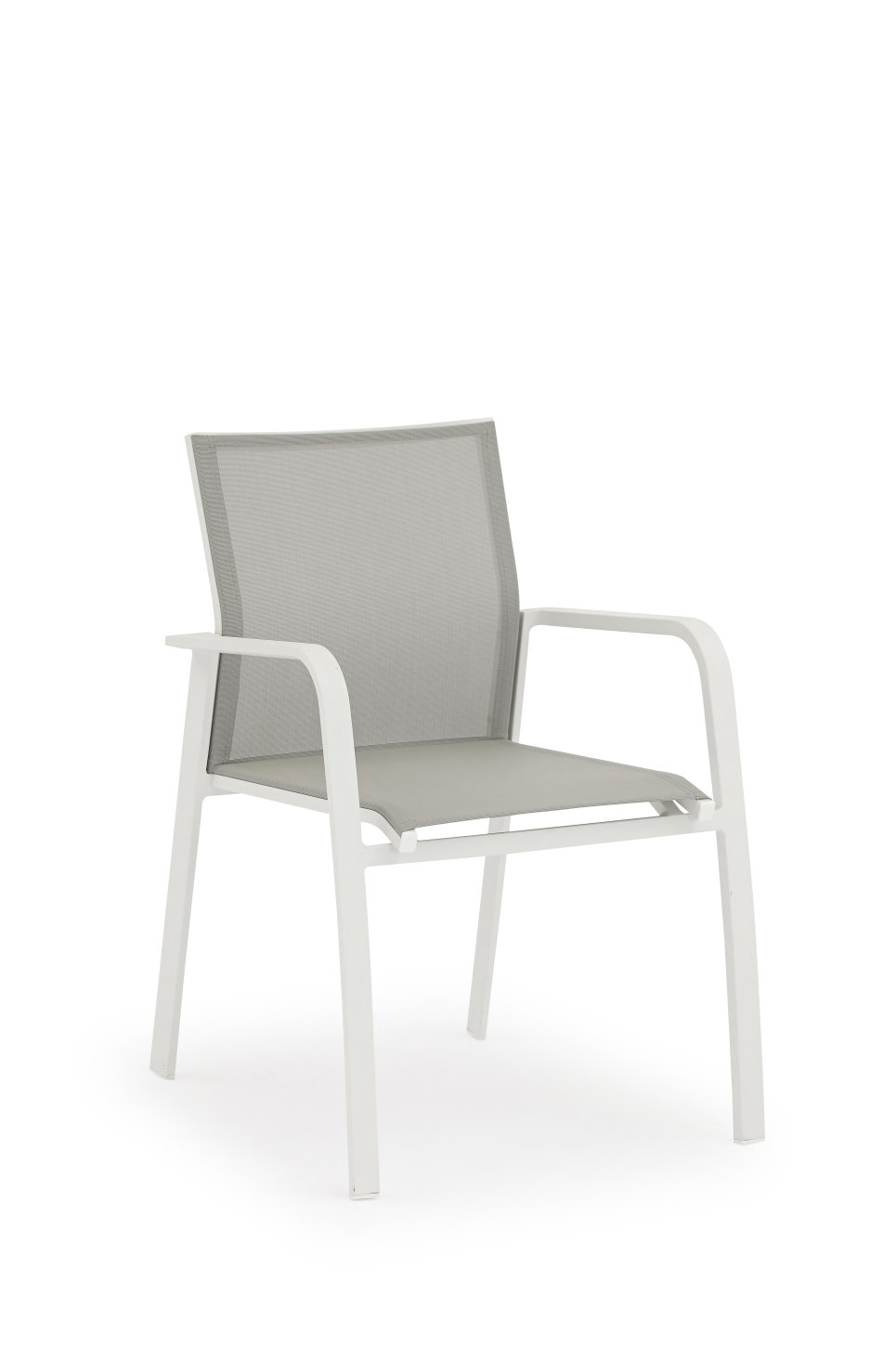 Fauteuil Blanc/Taupe - Nice