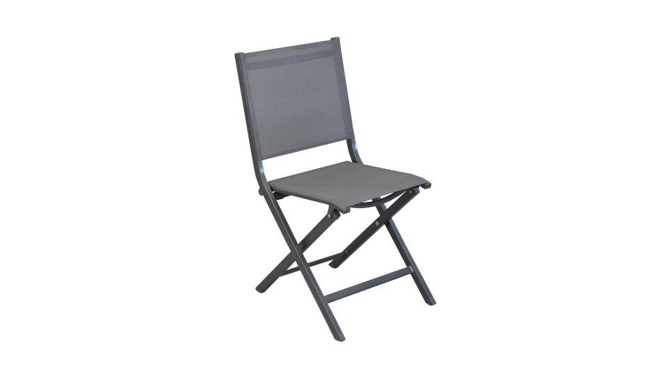 Chaise pliante Grise - THEMA