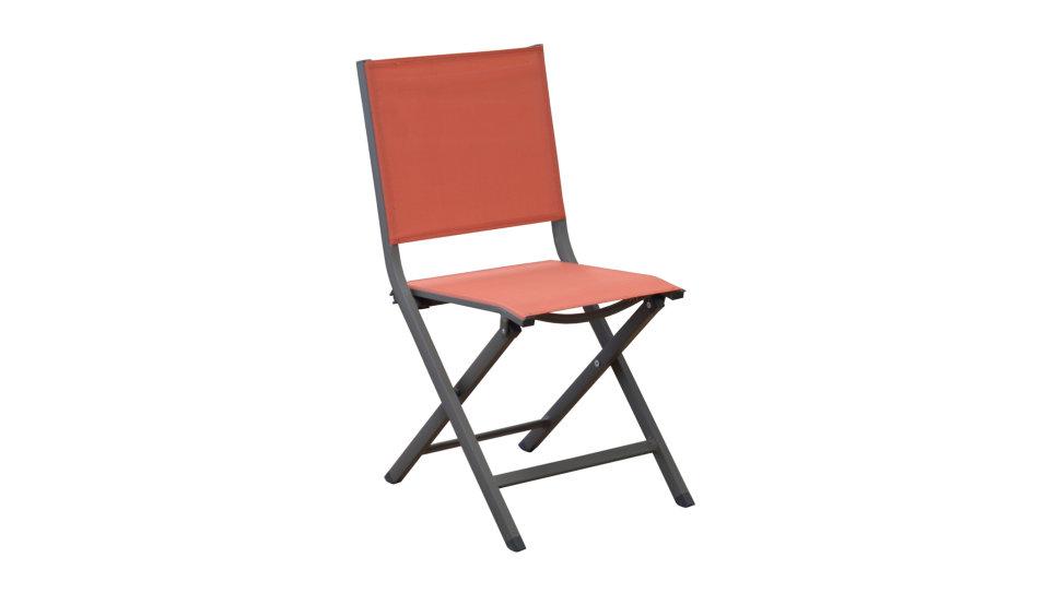 Chaise pliante Café/Paprika - THEMA