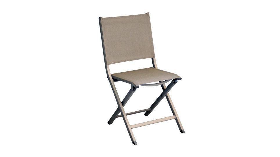 Chaise pliante Taupe - THEMA