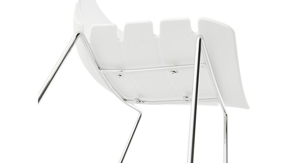 Tabouret de bar Mi-hauteur design blanc - Drago