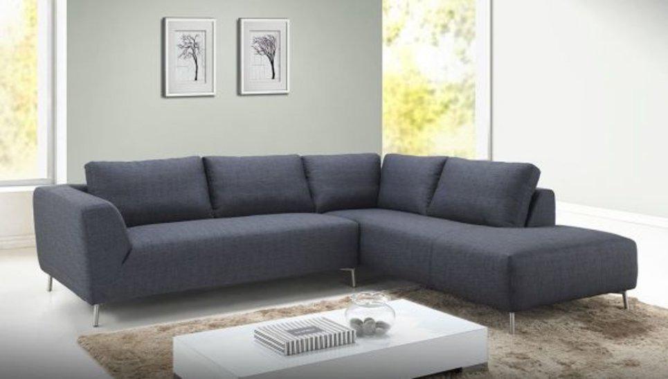 Canapé d'angle design Gris foncé 2m80 - MOON