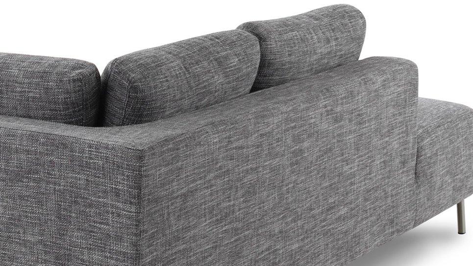 Canapé d'angle moderne en tissu Gris Clair - MOON