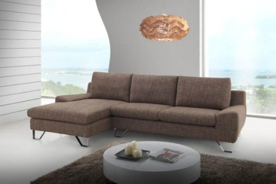 Canapé d'angle marron angle droit ou gauche - KENT