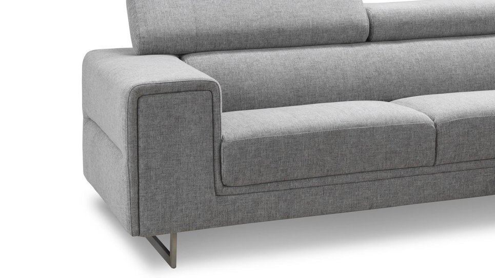 Salon canapé d'angle avec appuis-tête - STREET ELLEN SHALE