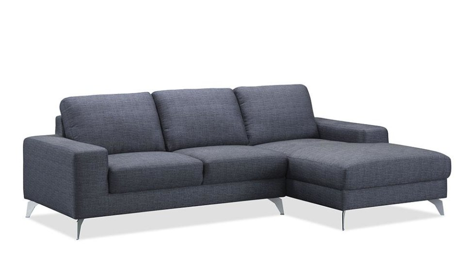 Canapé d'angle design gris avec méridienne - WALK GRIS CHABLIS