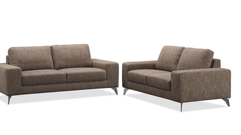 Canapé design 3 places en tissu Marron - JAZZ II