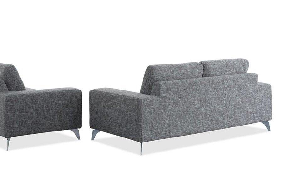Canapé design 3 places en tissu Gris - JAZZ II