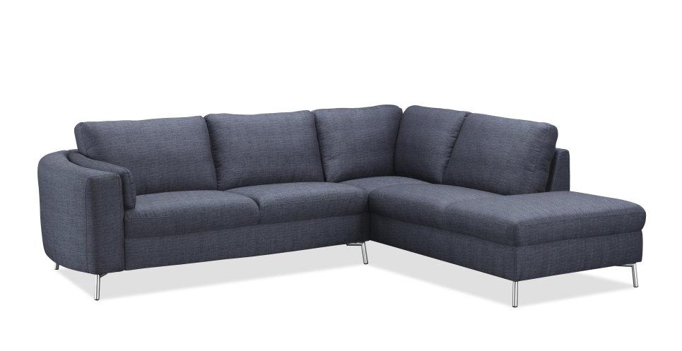 Salon canapé d angle design en tissu gris foncé 270 cm
