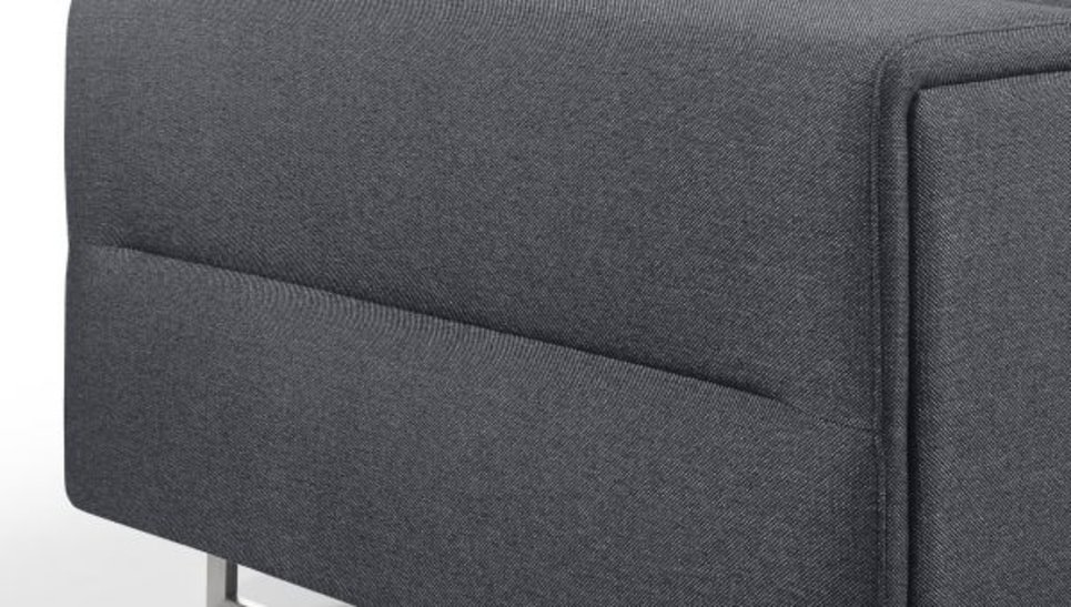 Canapé moderne 3 places en tissu Gris City avec têtières - STREET 3