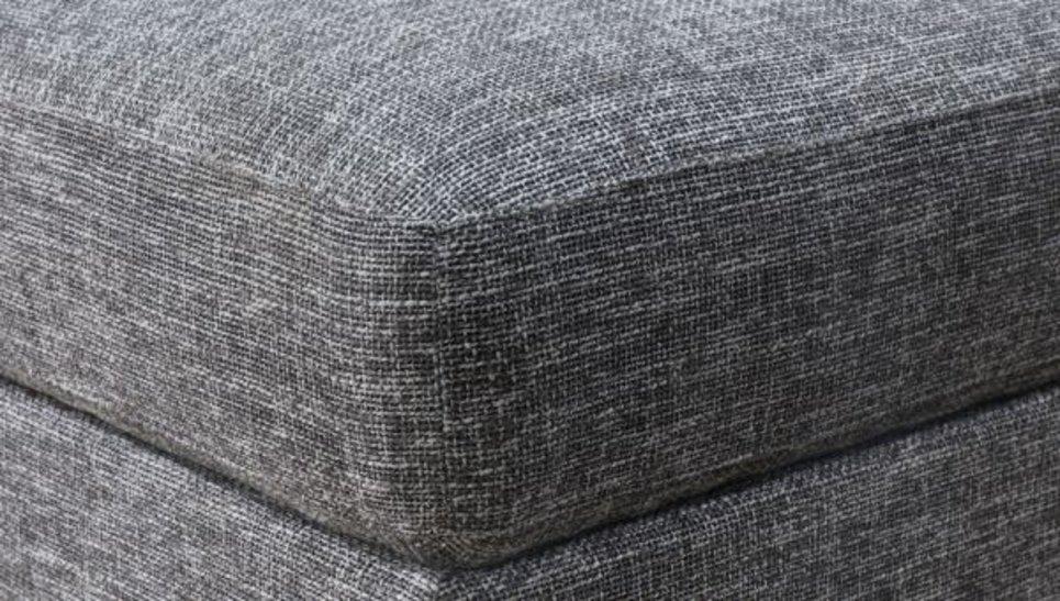 Pouf gris chiné en tissu - OTTO GRIS NARBONNE