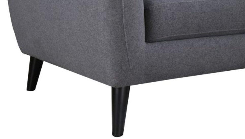 STRADA Grey foncé - Canapé 3 places fixe en tissu