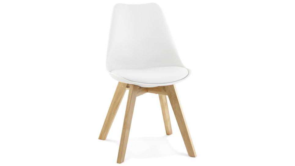 Chaise Blanche Avec Pied En Bois