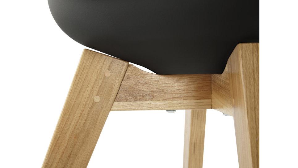 Trendy - Chaise Noire pied bois