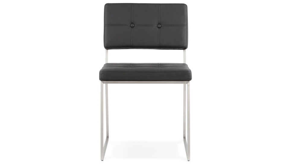 Chaise contemporaine similicuir Noir - Ralph