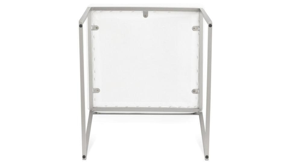 Chaise contemporaine similicuir Blanc - Ralph