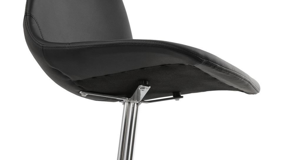 Chaise tendance similicuir Noir - Croix
