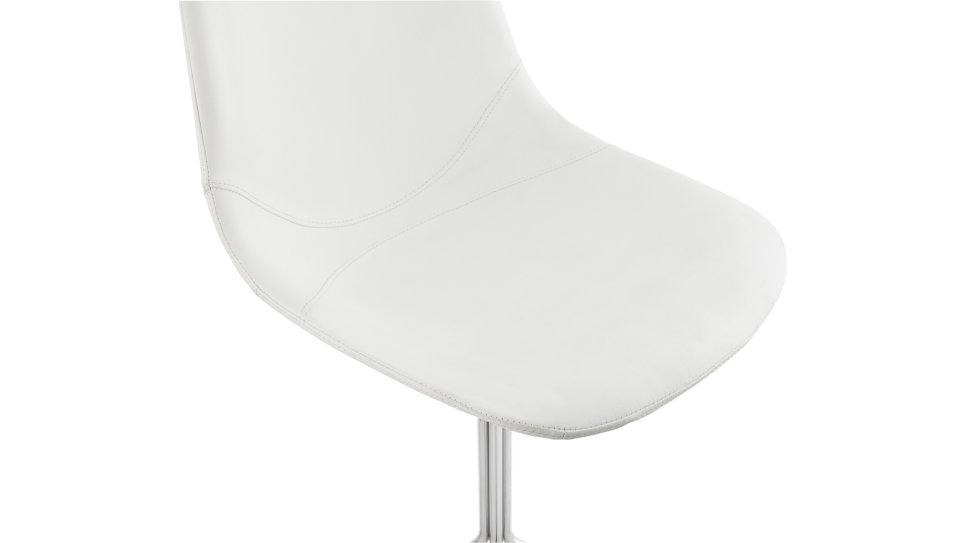 Chaise tendance similicuir Blanc - Croix