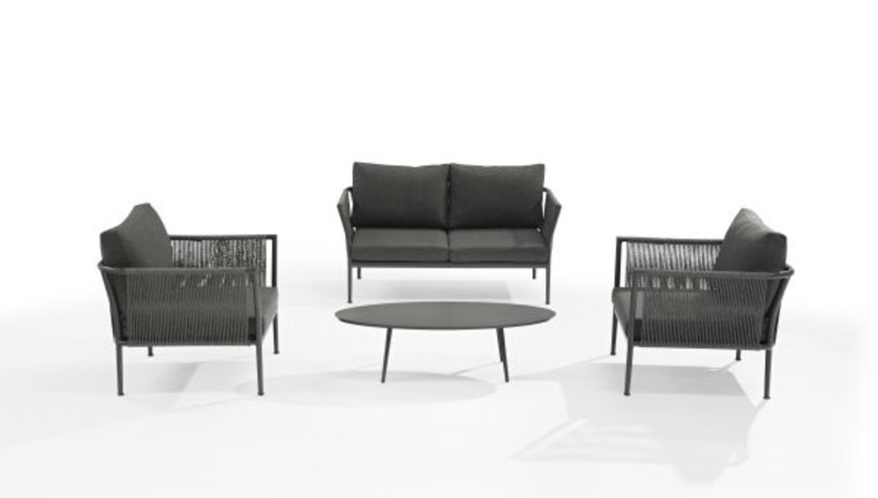 Salon de jardin design haut de gamme 4 places - BIARRITZ - Delorm Design