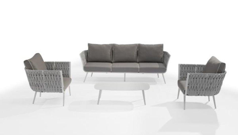 Salon de jardin design haut de gamme 5 places - CANNES - Delorm Design