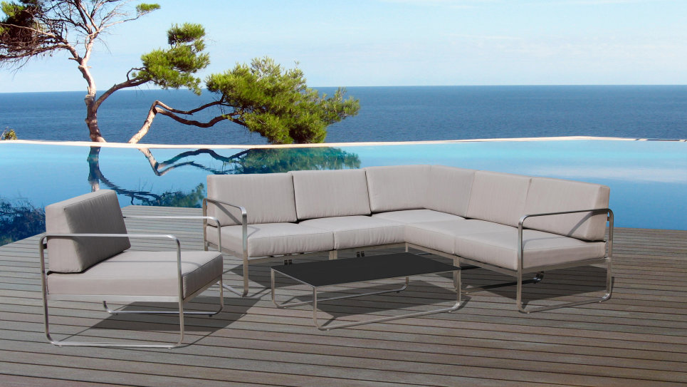 salon de jardin d 39 angle haut de gamme st barth. Black Bedroom Furniture Sets. Home Design Ideas