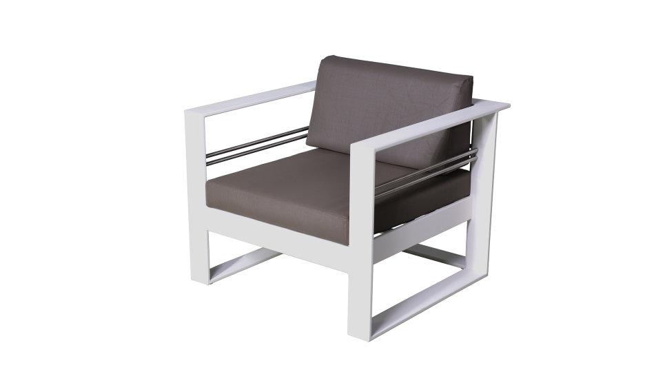 Salon de jardin aluminium haut de gamme 5 places - ST TROPEZ - Delorm Design