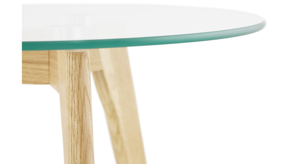 Table Basse Gigogne Plateau Verre Stella