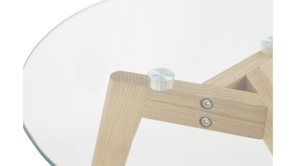 Table basse Gigogne plateau verre - STELLA