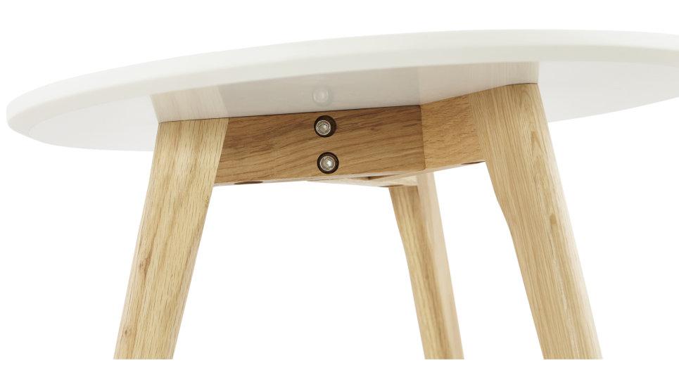 Table basse Gigogne plateau Blanc - STELLA