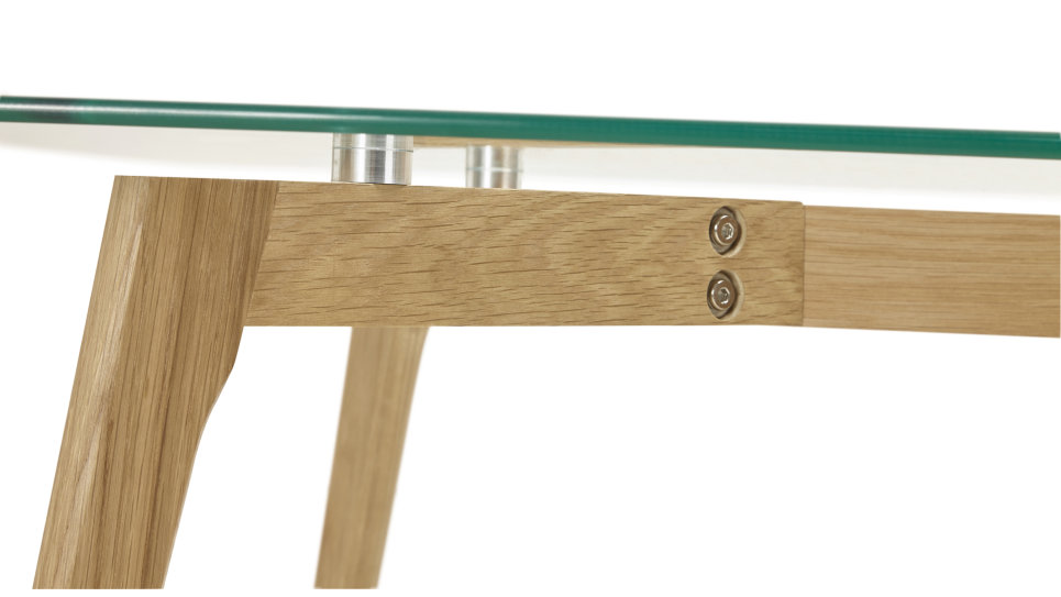Table basse design plateau verre - LENA