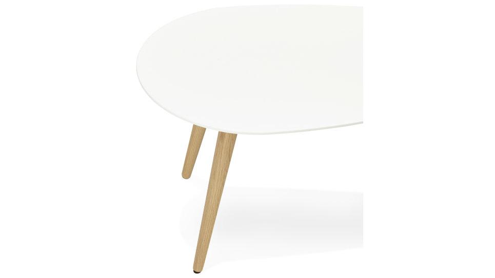 Table basse Gigogne plateau Blanc - TESSA
