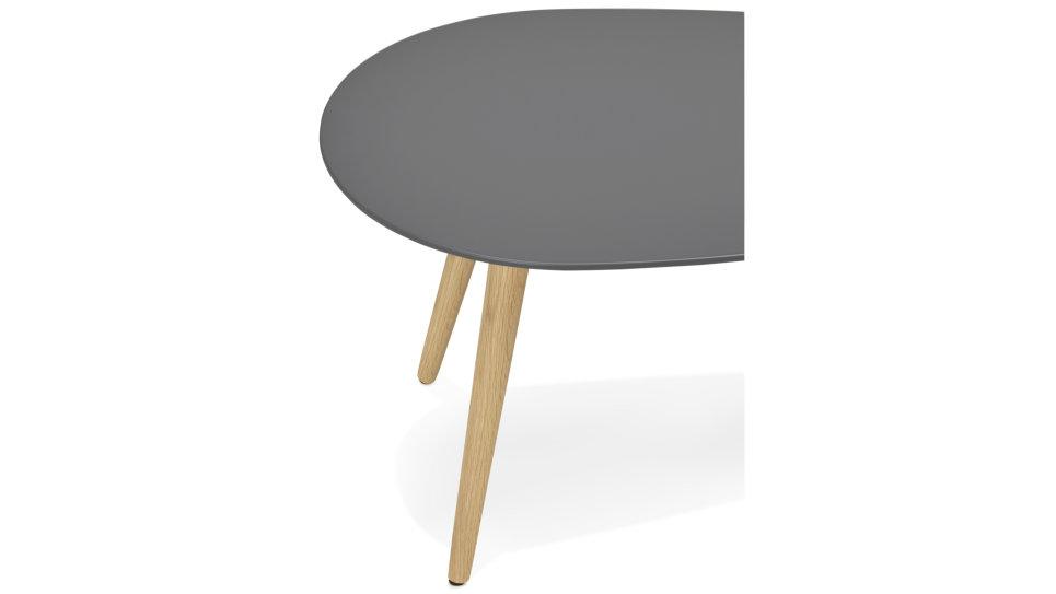 Table basse Gigogne plateau Gris - TESSA