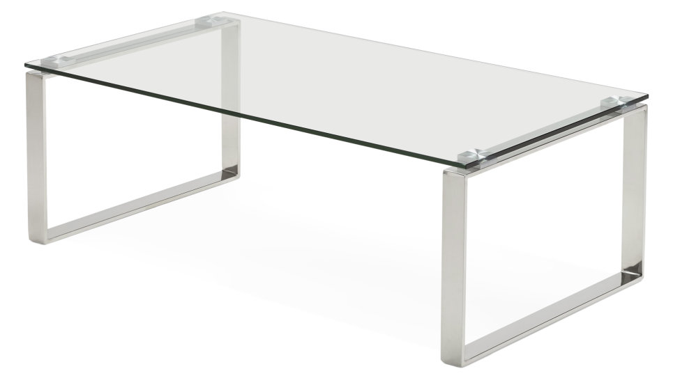 Table basse design plateau verre - VEGA