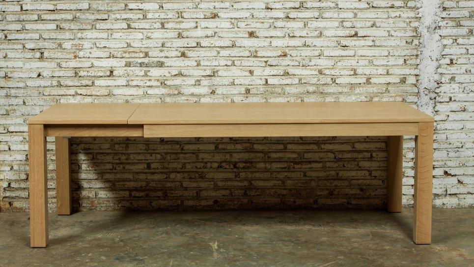 Table extensible en chêne massif 8/10 personnes - KUBICO