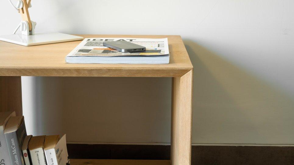 KUBICO TABLE D'APPOINT - Bout de canapé en chêne massif
