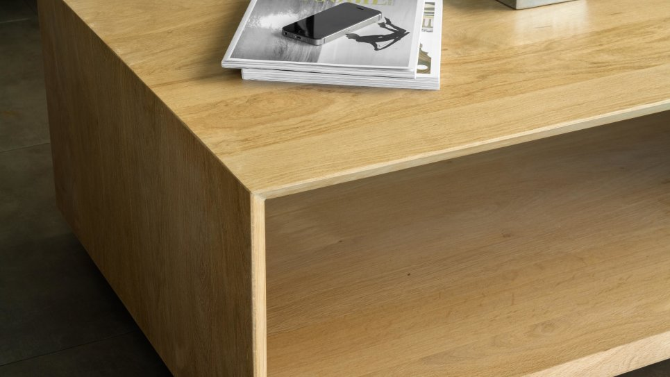 KUBICO TABLE BASSE - Table basse en chêne massif