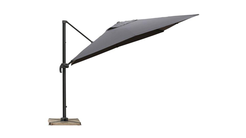 Parasol déporté 2,5 x 2,5 gris UPF 50+ - SOL