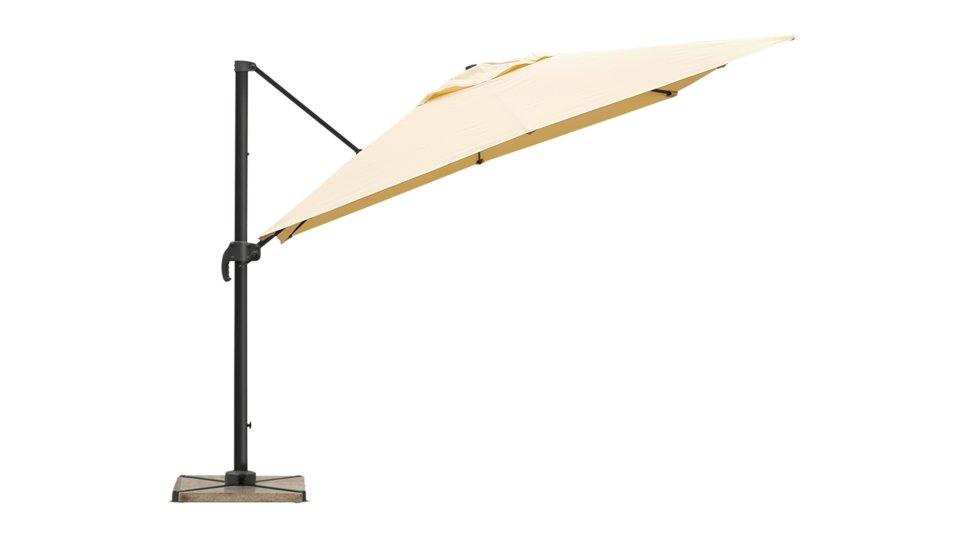 Parasol déporté 2.5 x 2.5 m sable UPF 50+ - SOL