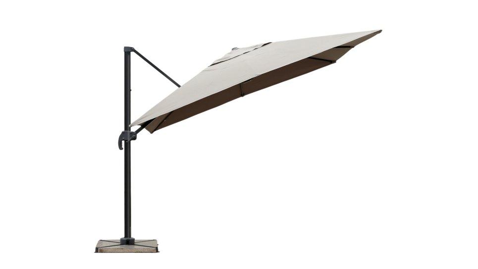 Parasol déporté 2,5 x 2,5 m taupe UPF 50+ - SOL