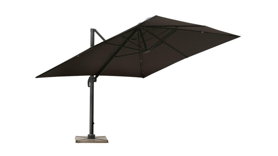 Parasol déporté 3x4 gris UPF 50+ - RANA