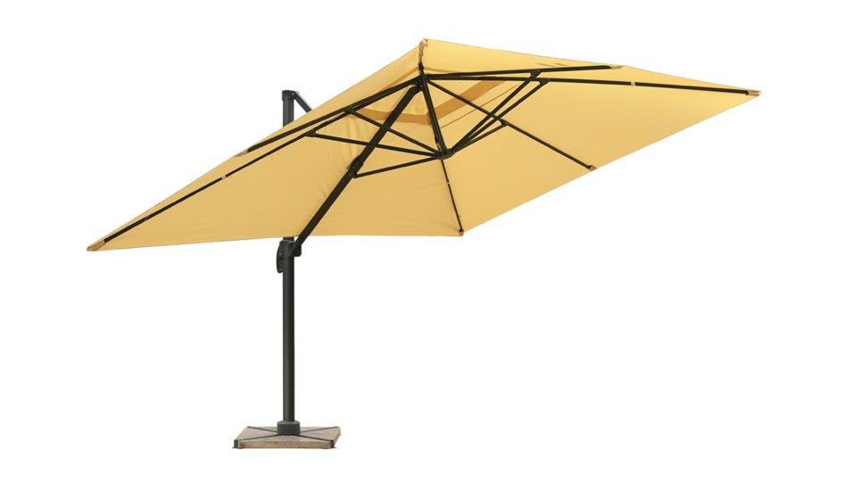 Parasol déporté 3x4 sable UPF 50+ - RANA