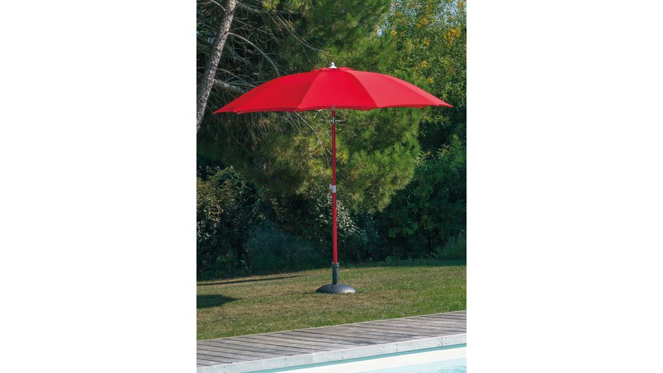 Parasol fibre de verre 270 cm Rouge - LOOK