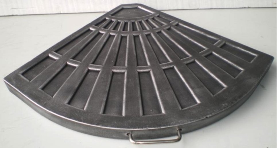 Parasol déporté 2,5 x 2,5 gris UPF 50+ - SOL + Dalles Ciment