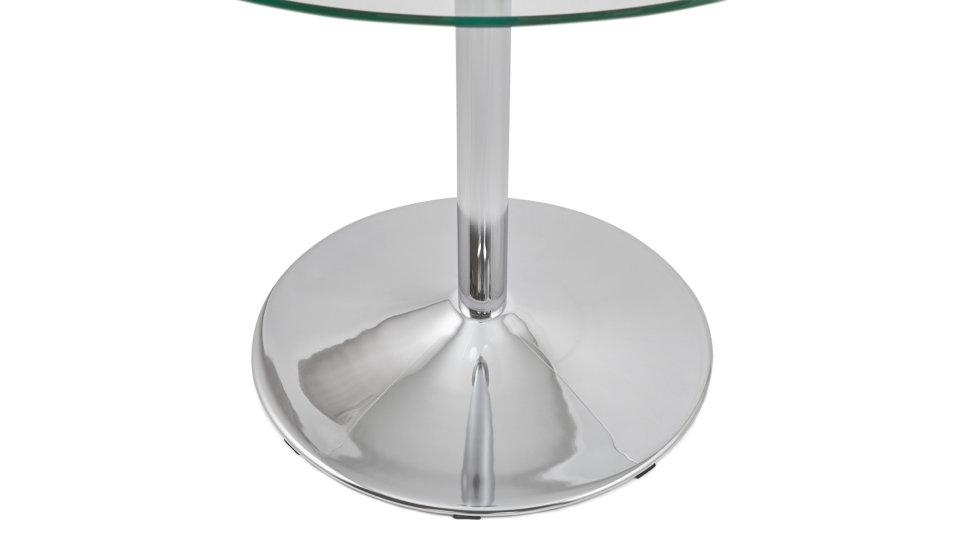 Table d'appoint ronde plateau verre - Alofa