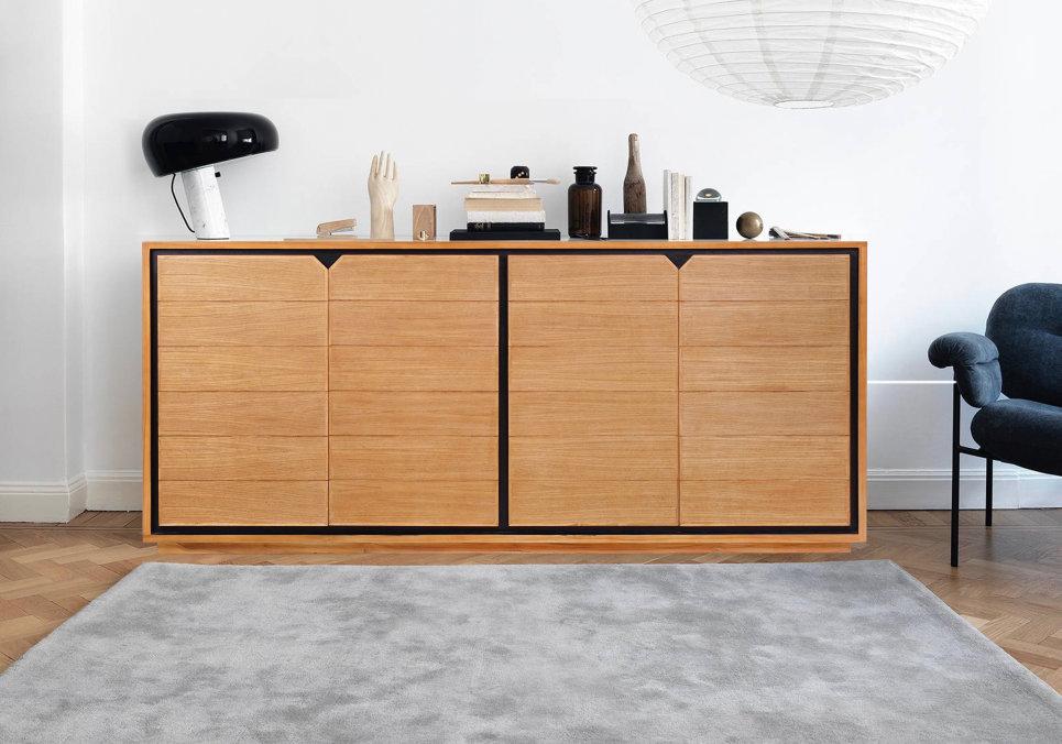 Buffet design en teck massif 4 portes Dynamic 200 cm