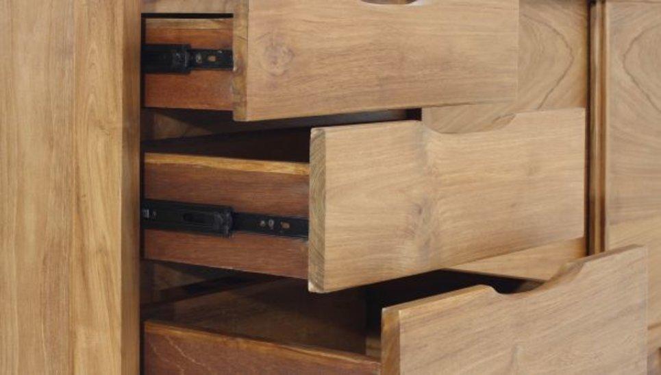 Buffet en teck massif 2 portes 3 tiroirs - FIFTEES